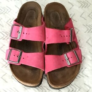 Birkenstock Arizona pink sandals 37/ 6-6.5 N